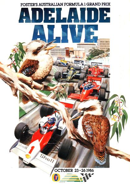 Capa do GP da Austrália de 1986