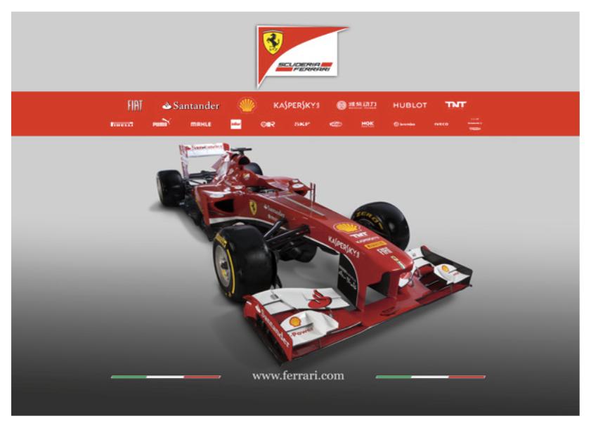 O Alto bico da Ferrari de 2013