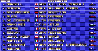Em algumas edições é Senna que aparece no lugar de Berger.