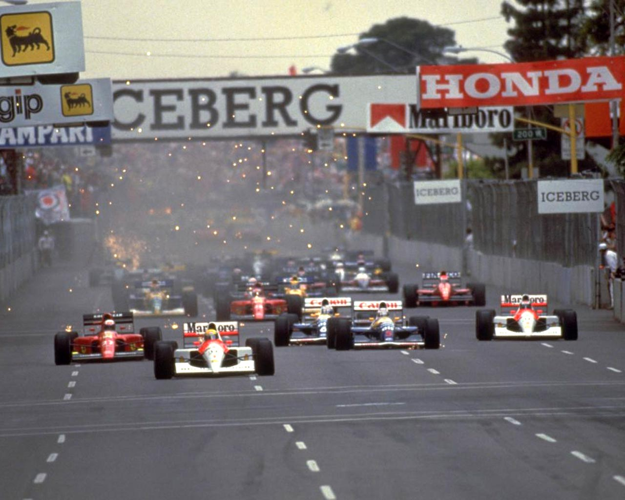 O Único momento que os adversários viram Senna foi na Largada.