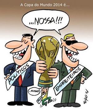 O Circo da Copa vai começar, Quem ganha com isso são os corruptos e o povo é que acaba sendo o palhaço