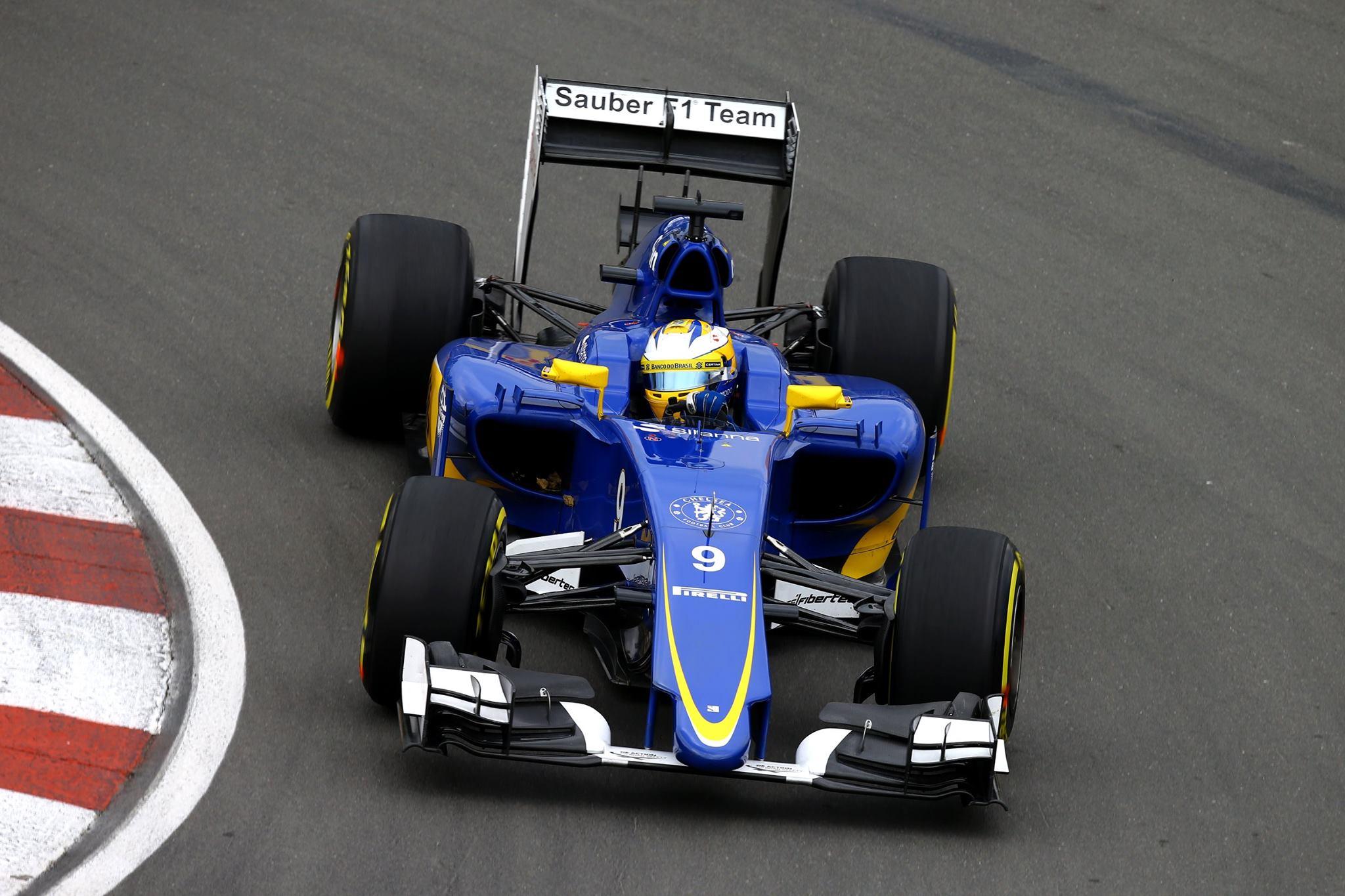 Ericsson largando pela segunda vez na frente de Nasr