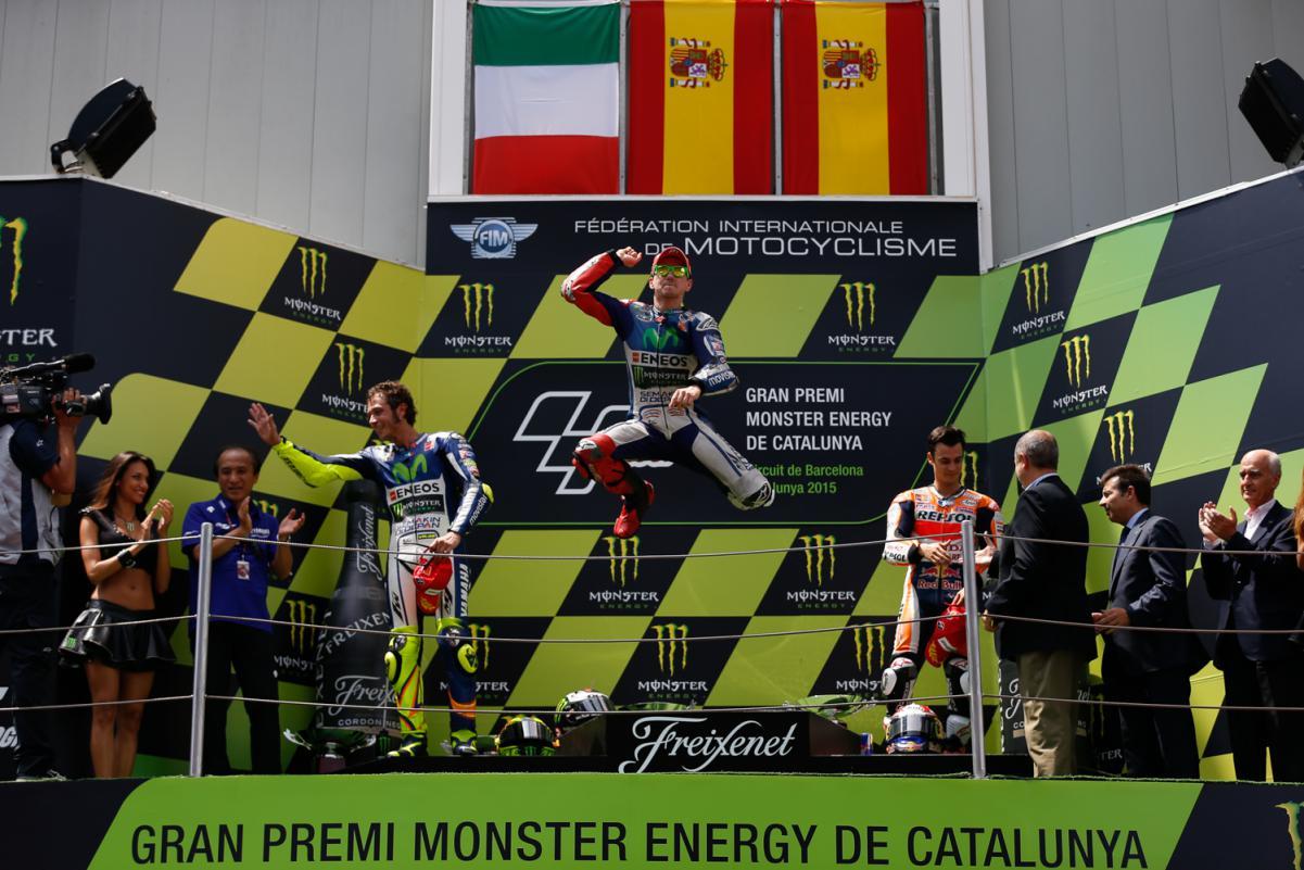 Pódio da Etapa da Catalunha da MotoGP
