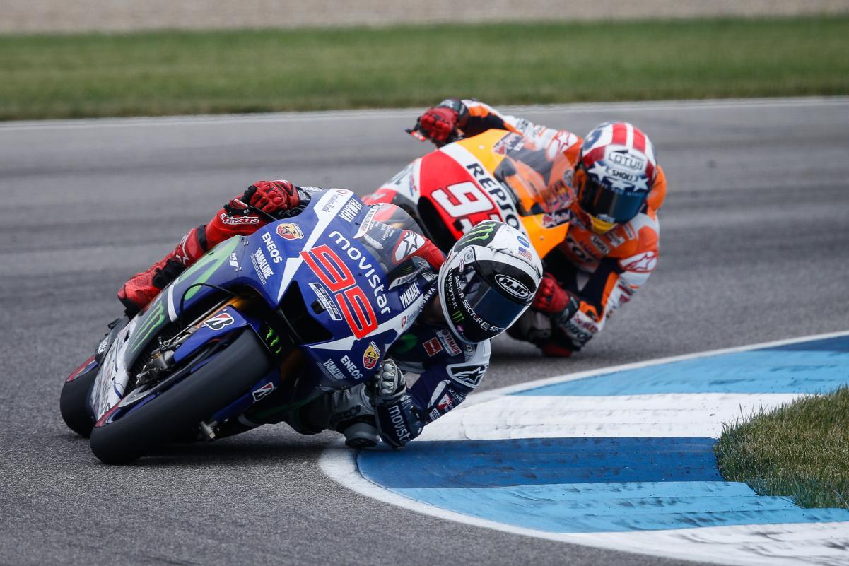 Marquez e Lorenzo foi a disputa pela vitória