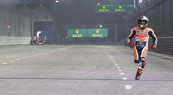 MM93 - Marc Marquez esta a procura da Moto reserva de forma desesperada em Cingapura.