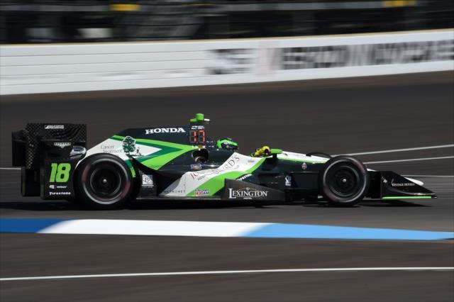 Conor Daly na melhor corrida da temporada até agora.